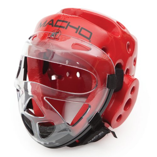 Macho Face Shield - Macho Dyna Head white medium and Clear Face shield