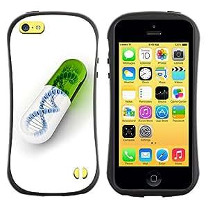 Suave TPU GEL Carcasa Funda Silicona Blando Estuche Caso de protección (para) Apple Iphone 5C / CECELL Phone case / / DNA Pill /