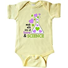 inktastic Made with Lots of Love and Science Heart Bubbles in a Infant Creeper