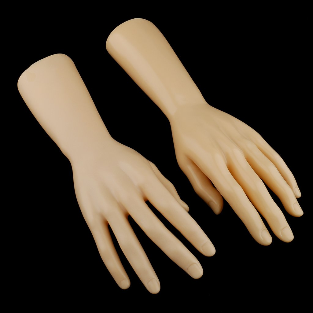 MagiDeal 1 Pair Male Mannequin Hand for Jewelry Bracelet Gloves ...