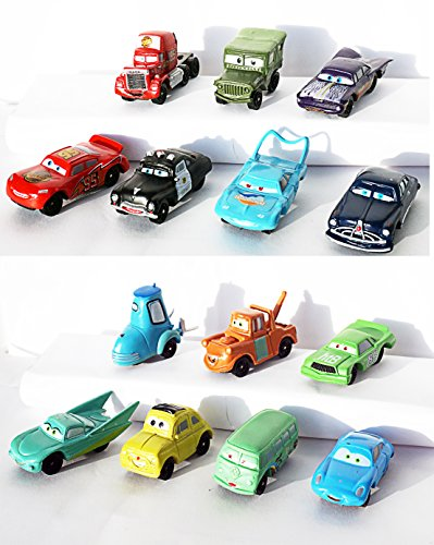 [RusToyShop] 6 psc random disney cars for boys Party Favor Toy Filled Easter mini figures actions - 90 Policy Return Day