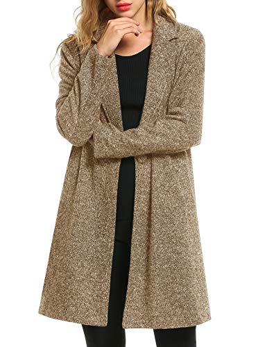 Zeagoo Women Peacoat Winter Outdoor Wool Blended Classic Single Breasted Pea Coats Jacket