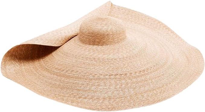 Amazon.com: MEANIT Sombrero de paja para mujer de gran ...