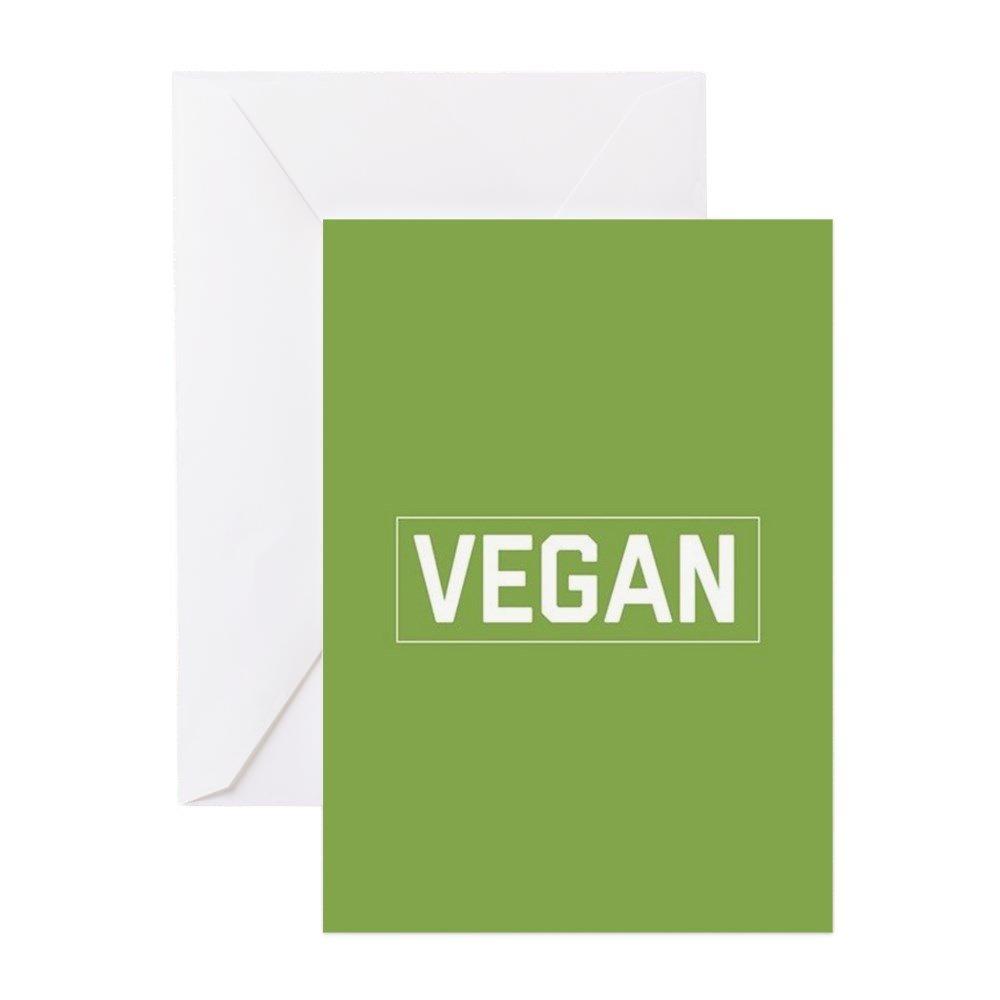 CafePress – Vegan – Grußkarte (20 Stück), Grußkarte mit blanko innen, Geburtstagskarte, matt