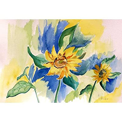 "Betsy Drake Garden Sunflower Door Mat, 18"" x 26"""