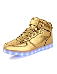 AFFINEST HighTopUSBChargingLEDShoesFlashingFashion SneakersforKids Boots