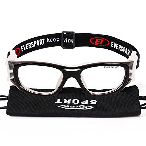 EVERSPORT Kids Sports Goggles Safety Protective Basketball Glasses for Children with Adjustable Strap for Basketball Football Volleyball Hockey Rugby - Kids Glasses Sports Prescription