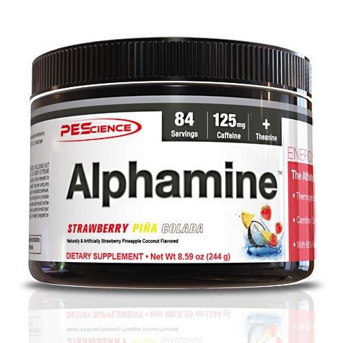 PEScience Alphamine Versatile Thermogenic Energy Powder, Strawberry Pina Colada, 8.59 Ounce