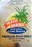 Maui Brand Natural Premium Maui Gold Hawaiian Sugar 50 pound bag