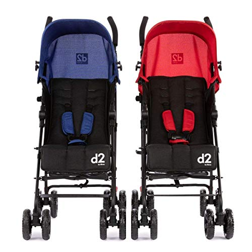 Diono Two2Go Lightweight Stroller, Red/Blue
