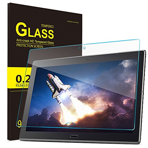 IVSO Lenovo TAB 4 10 PLUS Screen Protector, Ultra-thin 9H Hardness Highest Quality HD clear& Premium Tempered Glass Screen Protector for Lenovo TAB 4 10 PLUS Tablet(2pcs)