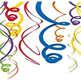 Amscan - Rainbow Plastic Swirl Decorations