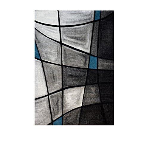 NAZAR BRI659930 Brillance 659 Tapis Matériel Synthétique Turquoise 230 x 160 cm
