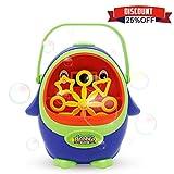 Wokashaka Bubble Machine for Kids Penguin Automatic Durable Bubble Blower