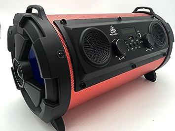 BOOM BOX Altavoz portátil portátil sistema de sonido altavoz inalámbrico MP3 tarjeta SD Radio Bluetooth: Amazon.es: Electrónica