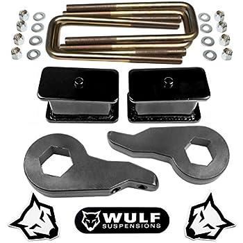 "SR Chevy C1500 K1500 Suburban /& RAM 4x4 1/"" Billet Rear Lift Blocks Kit /& U-Bolts"