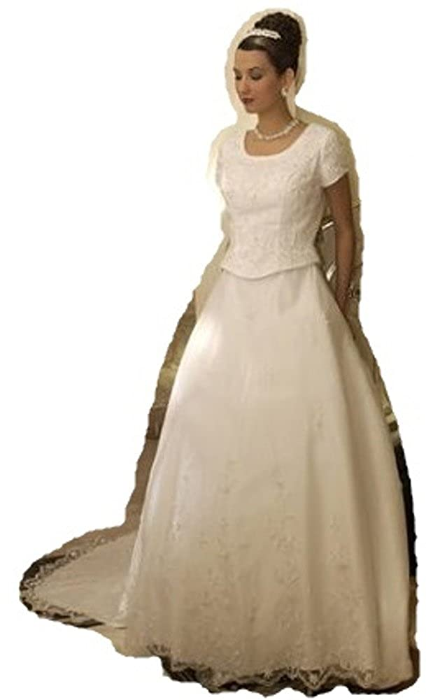 Eternity By Millennial Sun 7509 White Size 14 Bridal Gown Lds