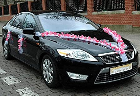 Orchid garland wedding car wedding decoration car car decoration orchid garland wedding car wedding decoration car car decoration bride and groom decorative rosa wei junglespirit Image collections