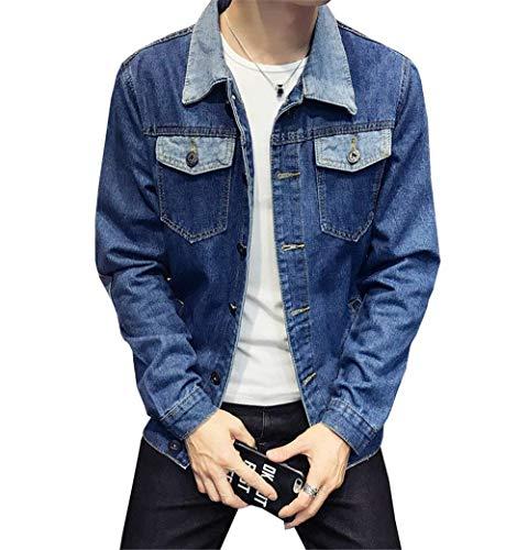 Chaqueta Hombres Outwear Mezclilla De 3 Los De Elegante Adolescentes Blau Botones Estilo De Chaqueta Chaqueta De Chaqueta Chaqueta Larga De con Los Ocio Ligera Mezclilla De Manga Mezclilla De De 8qnawBR