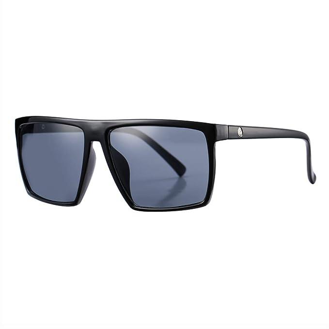 3c983928e anteojos de sol cuadradas para hombres y mujeres, de gran tamaño, diseño  retro.