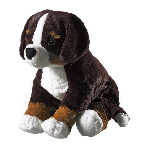 (Ikea Hoppig Bernese Burmese Mountain Dog Puppy Stuffed Animal Childrens Soft Toy Play)