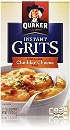 Quaker Instant Grits Cheddar Cheese Flavor 12 1-oz Packs (2 Boxes)