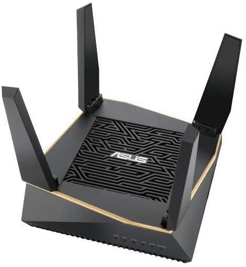 ASUS RT-AX92U AX6100 Tri-Band WiFi 6 Router with 802.11Ax, Lifetime Internet Security by Trend Micro, Aimesh Compatible, Adaptive Qos & Parental Control
