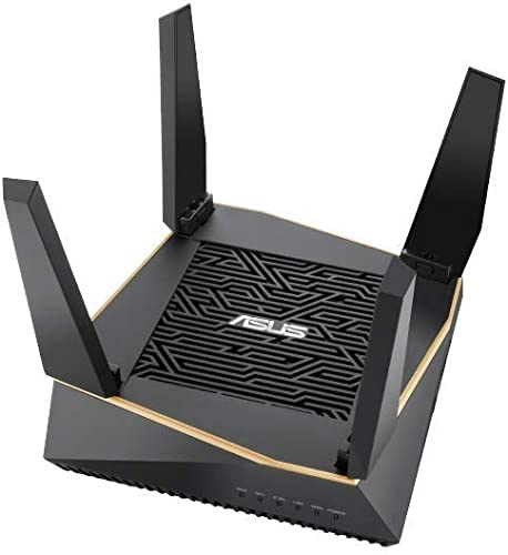 ASUS RT-AX92U AX6100 Tri-Band WiFi 6 Router with 802.11Ax, Lifetime Internet Security by Trend Micro, Aimesh Compatible, Adaptive Qos Parental Control