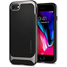 Spigen Neo Hybrid Herringbone iPhone 8 Case/iPhone 7 Case with Flexible Inner Protection and Reinforced Hard Bumper Frame for Apple iPhone 8 (2017) / iPhone 7 (2016) - Gunmetal