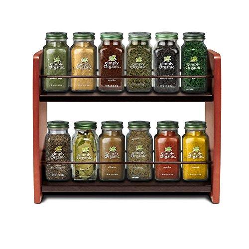 Small Spice Rack Organizer Wooden Kitchen Countertop Spice Jar Holder