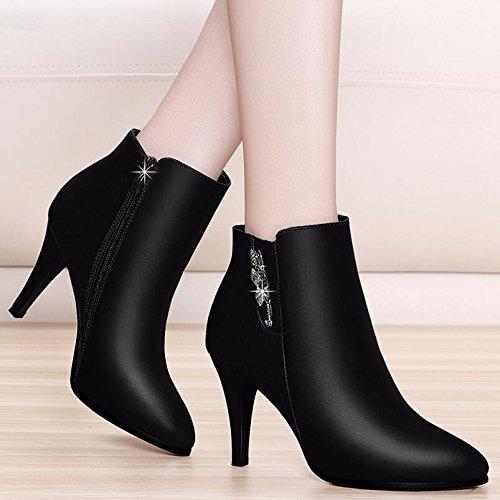 Bottes Heel Chaussures Noir Les Chaussures Circuit Coton Par 9Cm L'High Avec Sauvage Court Femmes D'Hiver Version Free Et Bottes Lint Réparties Dans KHSKX De 36 La Automne L'État Pour Chaussures Coréenne 5w0xPfqYw7