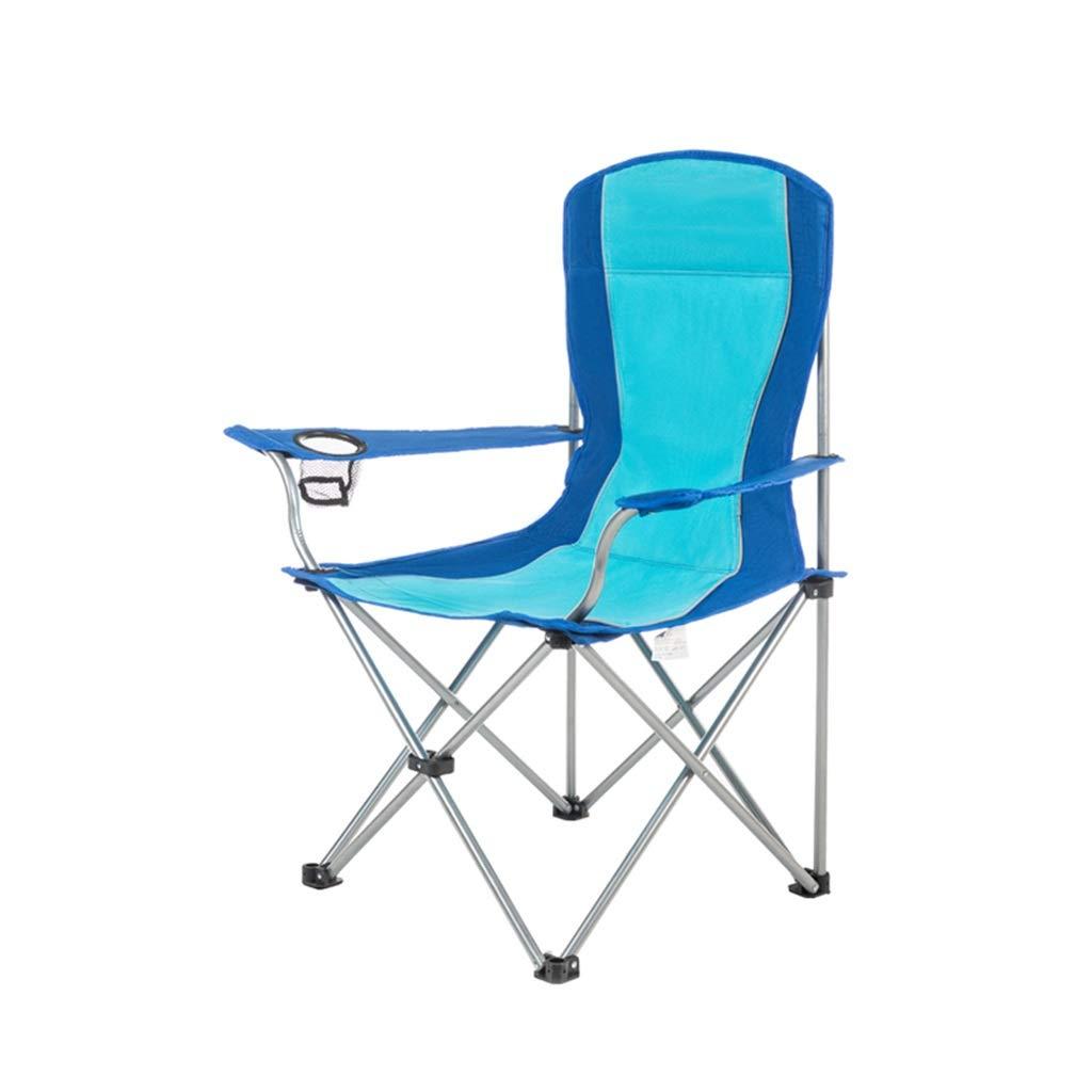 CGF-Mecedora Silla de Camping Plegable Plegable Silla Reclinable Cero Gravedad Portátil con Portavasos Playa Camping Jardín Pesca Barbacoa, Azul, Teniendo 120kg