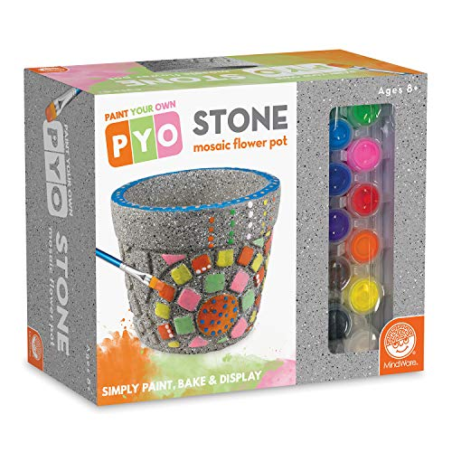 MindWare Paint Your Own Stone: Mosaic Flower Pot