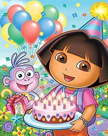 Cool Custom Cake Topper Dora The Explorer Centerpieces Table Decor Funny Birthday Cards Online Alyptdamsfinfo