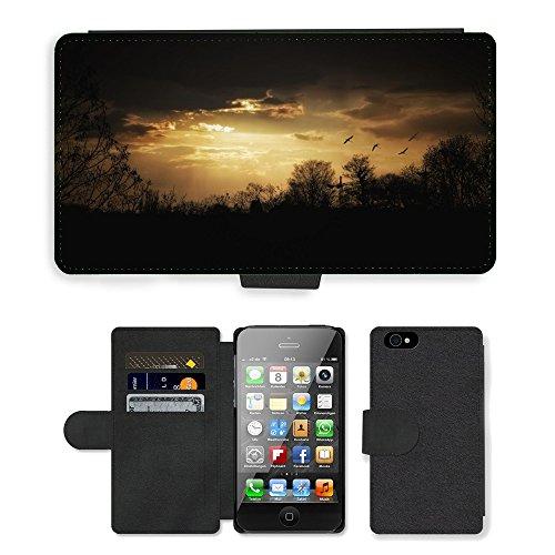 PU Leather Cover Custodia per // M00421568 Soirée Mood Crépuscule Sky Ambiance // Apple iPhone 4 4S 4G