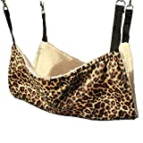 Pelay Cat Hanging Ferret Pet Cage Kitten Hammock Bed Pad Leopard Print Color (Leopard Print)
