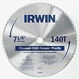 IRWIN Tools Classic Series Steel Corded Circular Saw Blade, 7 1/4-inch, 140T, .087-inch Kerf (21840ZR)