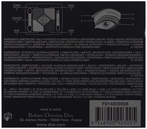 Christian Dior 5 Color Designer All in One Artistry Palette for Women, No. 008 Smoky Design, 0.15 Ounce by Dior (Image #4)