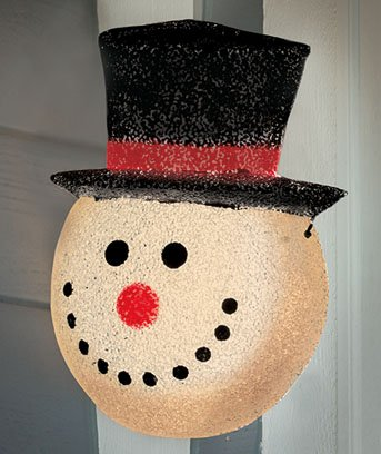 Snowman Porch Light Cover in Florida - 3