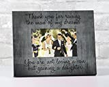 Thank You For Raising The Man Of My Dreams Picture Frame Mother in Law Gift Mom Frames