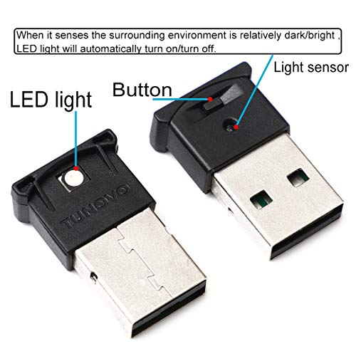 2-Pack Mini USB LED Light, RGB Car LED Interior Lighting Kit, DC5V Smart  USB LED Atmosphere Light, Laptop Keyboard Light Home Decoration Night Lamp