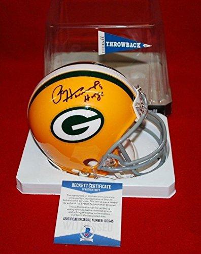 Autographed Paul Hornung Mini Helmet - holo beckett witness SB 1 HOF - Beckett Authentication - Autographed NFL Mini (Paul Hornung Signed Helmet)