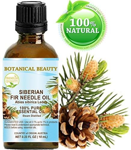 FIR NEEDLE ESSENTIAL OIL ( SIBERIAN ). 100% Pure Therapeutic Grade, Premium Quality, Undiluted. 0.33 Fl.oz.- 10 ml (Fir Needle Essential Oil Blends Well With)