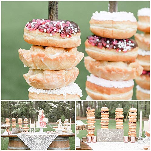 (Wedding Donut Stand, Donut Bar, Donut Display Cake Stand Holds Up To 10-50 Dounts)