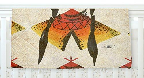 KESS InHouse Ivan Joh Indian Red Beige Fleece Baby Blanket 40 x 30