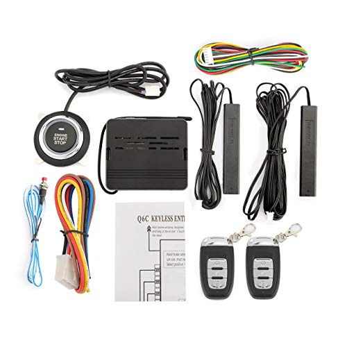Partol Push Start System Smart Key PKE Car Alarm Passive Keyless Entry Car Alarm System Engine Start Stop Push Button Remote Starter Shock Sensor Alarm