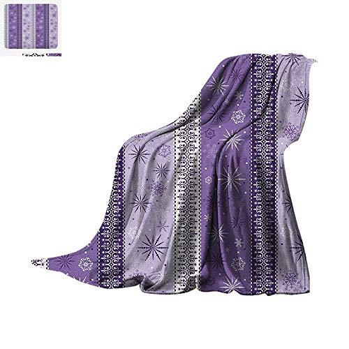 Ethnic Throw Blanket Arabesque Scroll Western Christmas Snowflakes Middle Eastern Noel Print Print Artwork Image 60