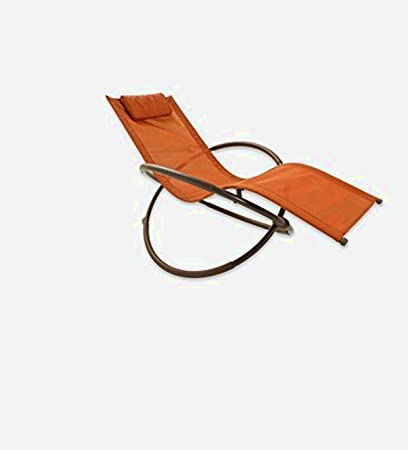 Orbit Lounge Chair, Orange Color,Innovative Shape, Steel And PVC Fabric  Material,