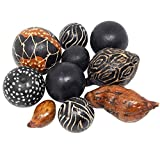 Homeford Decorative Baobab Bowl Filler, 10-Piece (Assorted Maple Brown)