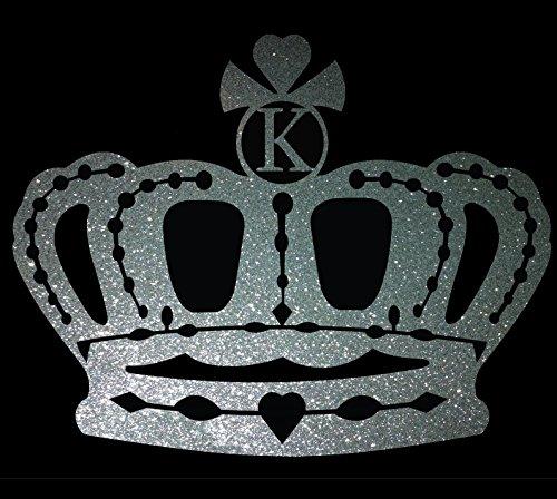 Crown Queen Princess King Royalty Custom Initial Letter K Ca